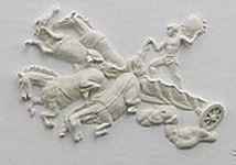Relief from larger sculpted mural