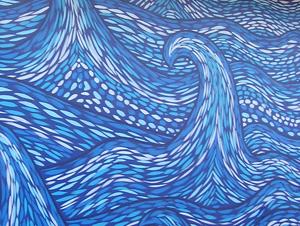 Pompano Beach wave mural